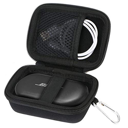 Hart Tasche Hülle für Bose QuietComfort Earbuds vollkommen kabellose In Ear Kopfhörer von Aenllosi (Nur Tasche,schwarz)