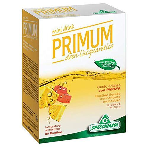 Specchiasol Integratore Alimentare Primum Dren Depurativo, Gusto Ananas e Papaya, Multicolore, 20 Bustine da 10 Millilitri