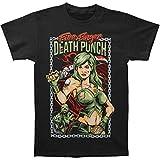 Five Finger Death Punch Men's Assassin Slim Fit T-Shirt X-Large Black