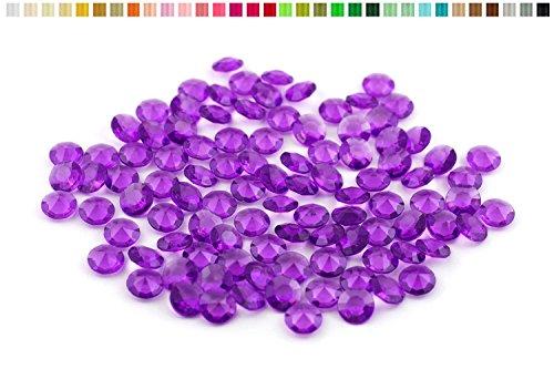 100 diamants en plastique pour decoration de table mariage ceremonie (prune 285)