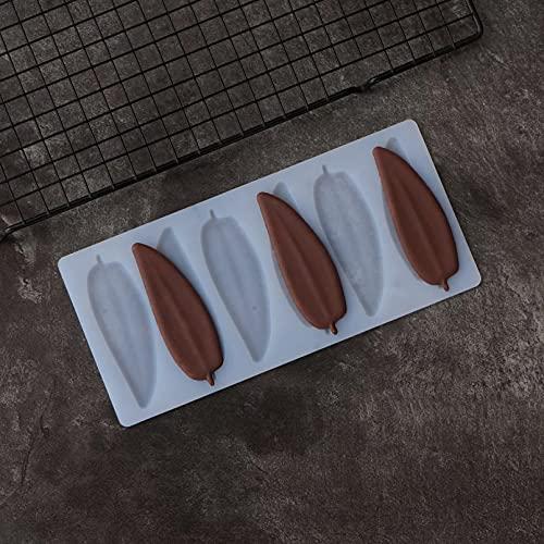 RTYY Lange Schmale Blattform Schokoladenform Kuchen Dekorieren Lanzettliche Blätter Schokolade Transfer Sheet Form Backschablone