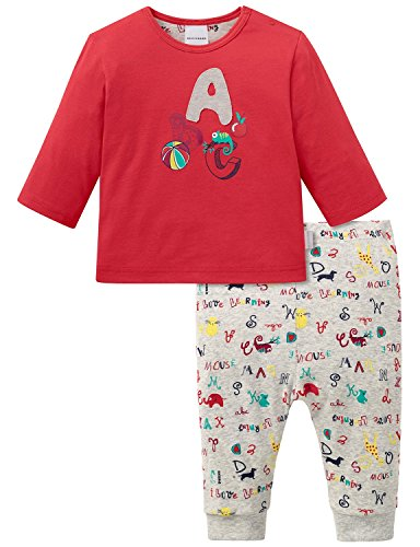Schiesser AG Schiesser Baby-Mädchen Anzug 2-teilig Zweiteiliger Schlafanzug, Rot (rot 500), 68 (Herstellergröße: 068)