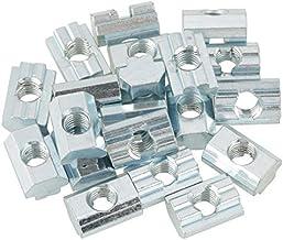 Vaorwne 50 pcs M5 T Ecrou coulissant Zingue Acier au carbone T Ecrou coulissant pour Profil en aluminium 2020