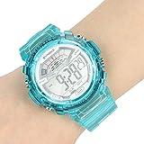 GJHBFUK Reloj Niño Reloj para Niños Reloj Electrónico Inteligente A Prueba De Agua Luminoso Y Resistente A Caídas Regalo para Niños Azul L