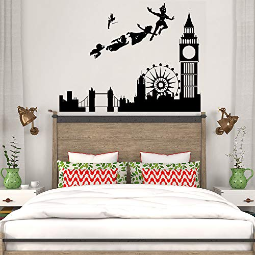 sanzangtang kinderkamer wandtattoo Peter Pan Londen Cartoon Pirat muursticker kinderen jongen baby kamer decoratie modern