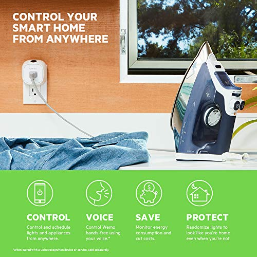 Wemo Insight Smart Plug with Energy Monitoring, WiFi Enabled, Control Your Devices and Manage Energy...