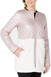 Performance Quilted Fleece Jacket Pink XS