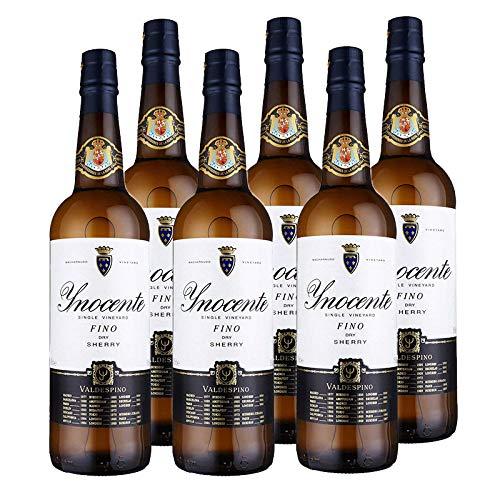 Vino Fino Inocente de 37.5 cl - D.O. Jerez y Manzanilla Sanlucar de Barrameda - Bodegas Grupo Estevez (Pack de 6 botellas)