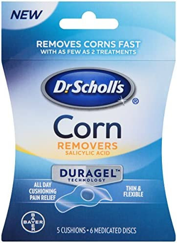 Dr. Scholl's Corn Remover with Duragel Technology, 6ct / Removes Corns Fast and Provides Cushioning Protection Against Shoe Pressure and Friction for All-Day Pain Relief