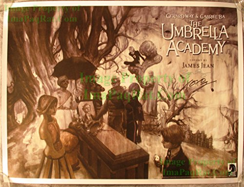 AUTOGRAPHED UMBRELLA ACADEMY LITHOGRAPH SIGNED by GERARD WAY of MY CHEMICAL ROMANCE and ARTIST JAMES JEAN