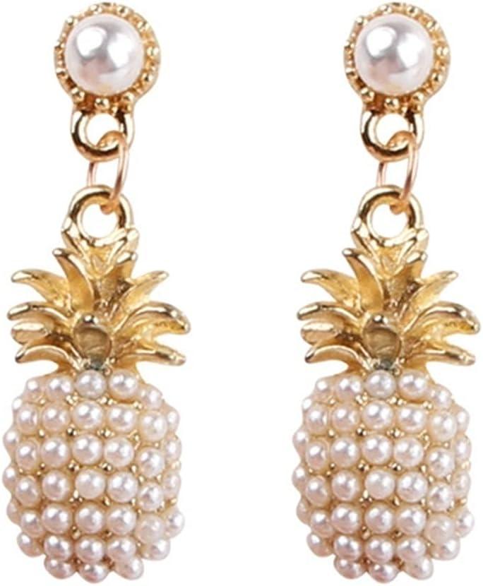Jczw Fruit Pineapple Earrings Female Versatil Choice S925 Silver Needle Max 68% OFF