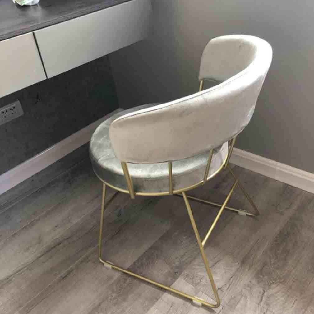 HLR Chaise Salle à Manger Nordic Fille Poudre Chaise de Maquillage Table Moderne Minimaliste Dressing Tabouret à Manger Chaise Chambre Dossier Chaise (Color : #1) #5