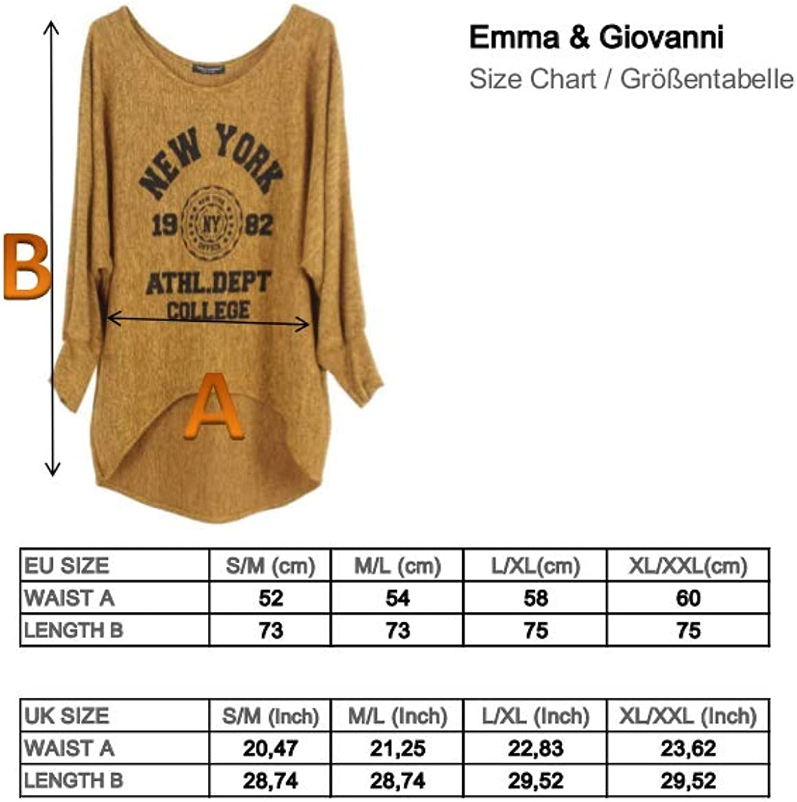 Emma /& Giovanni - Women Made in Italy Baggy Jumpers
