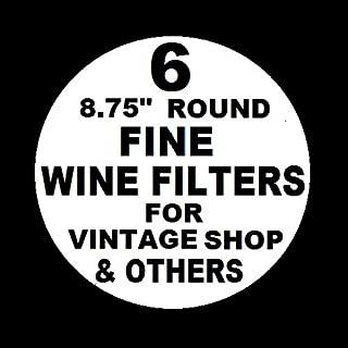 6 WINE FILTER PADS POLISH GRADE FINE 8.75