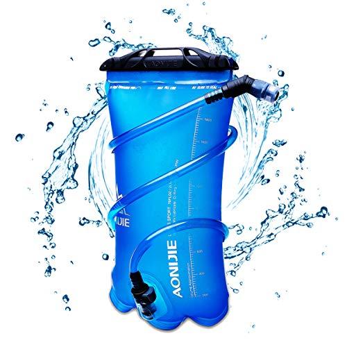 TRIWONDER TPU Bolsa de Agua Soft Flask 1.5-2-3L Vejiga de Hidratación Deportivas sin BPA a Prueba de Fugas Ideal para Mochila de Hidratación para Correr Ciclismo Senderismo (2L (TPU))