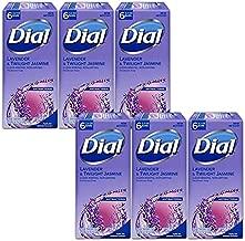 Dial Antibacterial Deodorant Bar Soap, Lavender & Twilight Jasmine, 6 Bars - 3.2 Oz Each