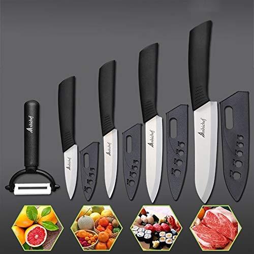 Cuchillos cocina ceramica Cuchillos de cocina cuchillos de cerámica de cocina de 3 de pelado de 4 Utilidad 5 6 rebana cocinero cuchillo de cocina Herramientas Blade Knives Vegetales