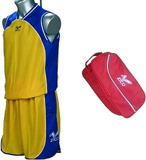 ZICO ESPAÑA Conjunto Baloncesto Amarillo-Azu.l Equipación Camiseta ...