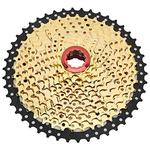 Bnineteenteam Integrazione Ruota Libera, Ruota Libera Bici Cassetta Pignone 11 velocità 46 Denti Sostituzione Bicicletta Accessorio Nero Dorato