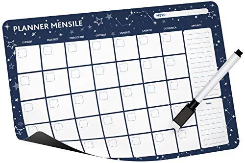 Notta&Belle FEEL LOVE EVERY MINUTE Calendario magnético (planificador mensual - Azul)