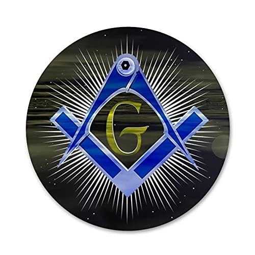 COLORFULTEA Religión Fraternidad Masones Iconos Pines Insignia Decoración Broches Insignias De Metal para Ropa Decoración De Mochila 58Mm