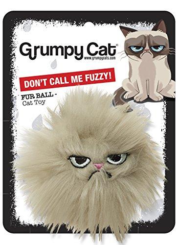 Rosewood 14022.0 Grumpy Cat knisterndes Katzenspielzeug Gemeine Maus mit Katzenminze, Länge: 14cm, beige