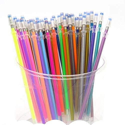 Ogquaton - Lote de 48 bolígrafos de gel de alta calidad, recargables, de colores, con tinta creativa y bonita, para estudiantes y estudiantes