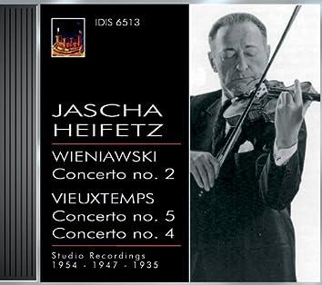 Wieniawski, H.: Violin Concerto No. 2 / Vieuxtemps, H.: Violin Concertos Nos. 4 and 5 (Heifetz) (1935, 1947, 1954)