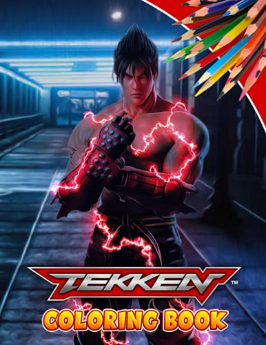 Tekken coloring book: The book is a great gift for fans of all ages to help relieve fatigue, improve creativity.– 50+ GIANT Great Pages with Premium Quality Images.