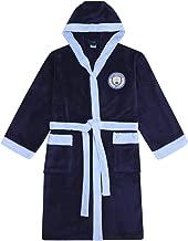 Manchester City FC - Herren Fleece-Bademantel mit Kapuze - offizielles Merchandise Fußballfans