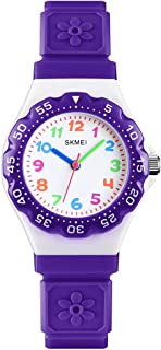 Kids Watch for Girls Ages 5-7 with Gift Box, GRyiyi Girl's Watches 50M Waterproof Wrist Watch Adorable Time Teacher for Girl