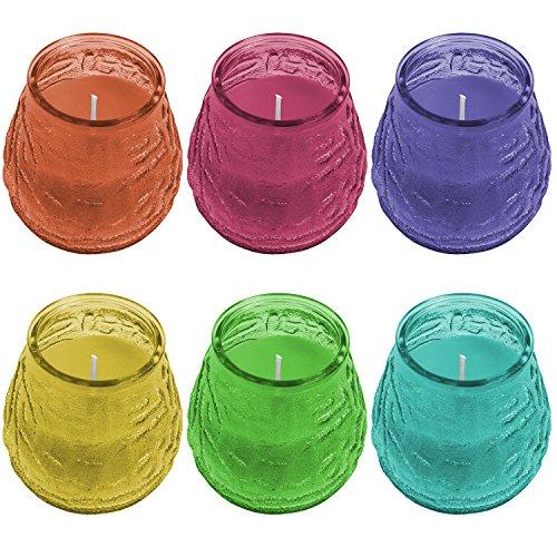 Multistore 2002 6tlg. Set Zitronenöl Duftkerzen im Glas je Ø9,5cm Windlicht