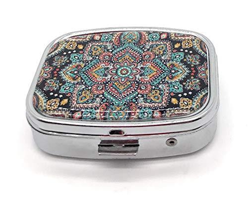 MovilCom® Pastillero diario de bolsillo organizador 2 compartimentos, pastillero organizador pastillas toma diaria, caja medicamentos (mod.653205)