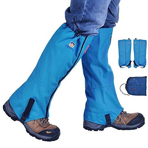 Rayami Botas de nieve contra el agua, piernas contra el polvo, sostenes portátiles para proteger a los guardianes de las botas contra la rotura(Azul)