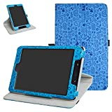 ZenPad Z8s ZT582KL / Z8 ZT582KL-VZ1 Rotating Case,Mama Mouth 360 Degree Rotary Stand with Cute Pattern Cover for 7.9' Asus ZenPad Z8s ZT582KL / Z8 ZT582KL-VZ1 Android 7.0 Tablet,Blue