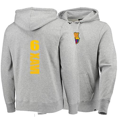 XH Sport Hoodie Xavier Hernandez Creus # 6 Männer Frauen Kapuzenpullover Trikots Lose Sweatshirts Winter Warme Jacke S-3XL (Color : Gray, Size : 3XL)