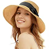 Tacobear Pamela Mujer Verano Sombrero Plegable Sombrero de Playa ala Ancha Sombrero de Sol...