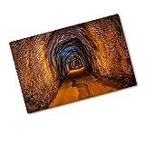 Tulup Tagliere Vetro Temperato - 80x52cm - Copri Piano Cottura - Tunnel