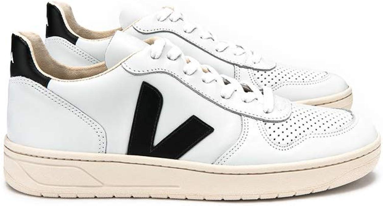 VEJA V10 Leather Herren Sneaker Weiß B06X6C2QB3  | Komfort