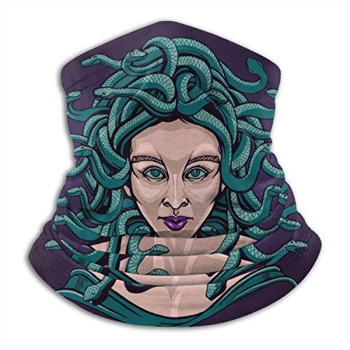 Lady Girl Medusa Seamless Neck Gaiter Face Mask Bandanas For Dust, Outdoors, Festivals, Sports