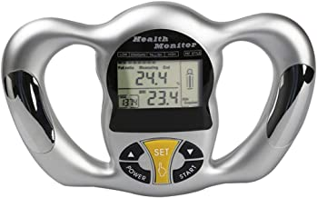 Aritone Handheld Digital Body Fat Analyzer Health Monitor, Portable Wireless Body Mass Index BMI Health Fat Loss Monitor (Sliver)