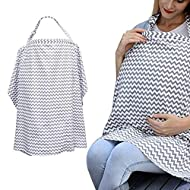 ✔ Soft Mums Breastfeeding Apron - Made of 100% cotton, the fabric is breathable, no smell, can keep the air flowing, soft texture, can not afford the ball, care for the mother and baby's skin.Makes you feel completely at ease breastfeeding in public ...