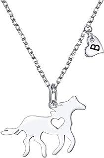 هدايا الحصان للبنات قلادة فضة استرليني القلب الأولي قلادة الحصان قلادة للنساء مجوهرات