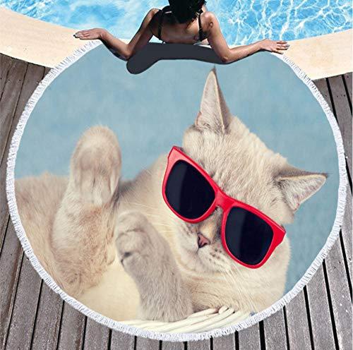 70 x 140 cm Toalla de playa Detexpol dise/ño de gatos