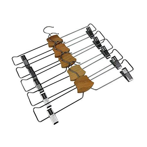 Bumerang Broek Hanger Rok Hanger Set van 5 Verchroomd