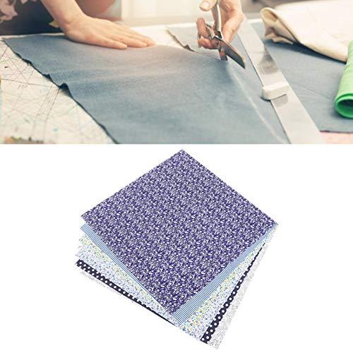 Tela estampada de confección Tela de algodón Tela de algodón para bricolaje Tela de algodón para manualidades(A set of navy blue 50 * 50cm)
