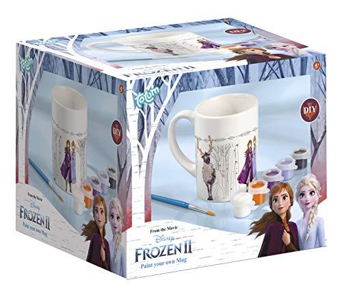 Frozen II- Tasse Zum Bemalen Disney Taza para Colorear (6 Colores Diferentes, Pincel, Regalo para niñas), Multicolor (TM Essentials 680760) , color/modelo surtido