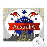 オーストラリアの建国記念日はエミューと星のイラスト クリスマスイブのゴムマウスパッド