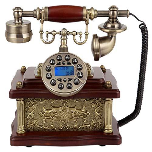 VERDELZ TeléFono Vintage Retro, TeléFono Fijo con Cable De Estilo Antiguo con DecoracióN De Hogar Y Oficina con Dial De BotóN