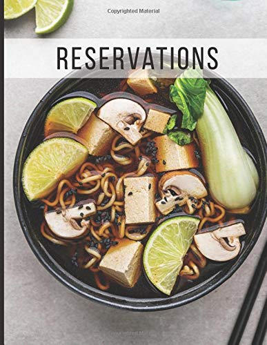 Reservations: Reservation Book for Ramen Restaurant 2019 365 Day Guest Booking Diary Hostess Table Log Journal